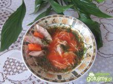 Zupa pomidorowa  z  wędzoną makrelą