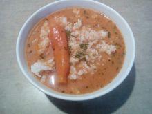 Zupa pomidorowa z ziołami i ryżem