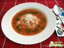 Zupa pomidorowa ze świeżych pomidorów,