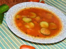 Zupa pomidorowo cukiniowa z makaronem