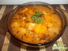 Zupa pomidorowo-grochowa z mięsem