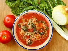 Zupa pomidorowo-szpinakowa