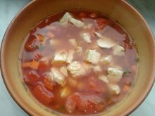 Zupa pomidorwa na indyku