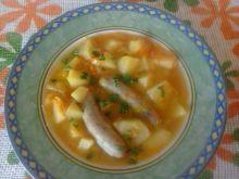 Zupa porowa z białą kiełbaską