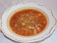 Zupa porowa z kaszą