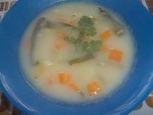Zupa porowa z marchewką