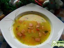 Zupa porowa z parówką