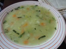 Zupa porowa z ryżem