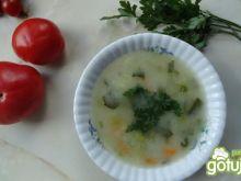 Zupa porowa z tymiankiem