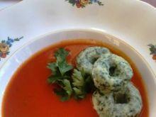 Zupa pudliszkowa z nutą szpinaku
