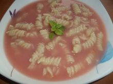 Zupa rabarbarowo - truskawkowa