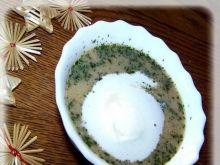 Zupa rybna z grzybami.