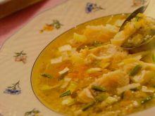 Zupa rybna z kaszą jęczmienną