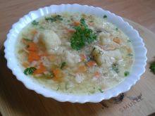 Zupa ryżowa na rosole z kalafiorem