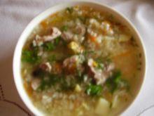 Zupa ryżowa na żołądkach drobiowych