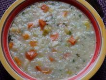 Zupa ryżowa z warzywami