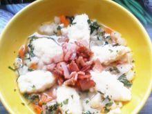 Zupa selerowa z jogurtowymi kluseczkami