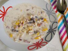 Zupa serowa z boczkiem i pieczarkami