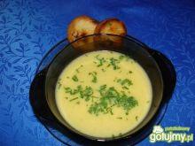 Zupa serowo-warzywna zagęszczana kaszą