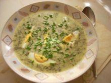 Zupa szczawiowa Pyzy