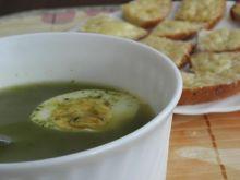 Zupa szczawiowo-szpinakowa.