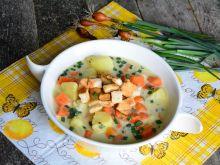 Zupa szczypiorkowa z grzankami