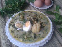 Zupa ze szpinakiem, koperkiem i kalafiorem