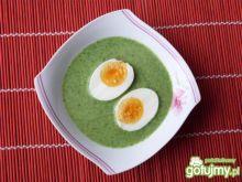 Zupa szpinakowa z jajkami