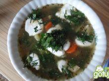 Zupa szpinakowa z pesto