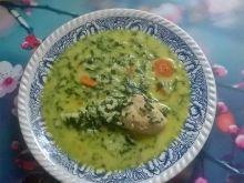 Zupa szpinakowa z ryżem