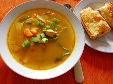 Zupa Tajska z Grzankami