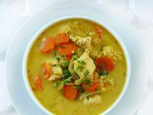 Zupa tajska z kurczakiem i mlekiem kokos