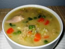 Zupa warzywna z kasza