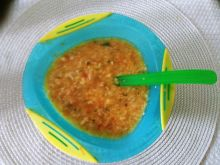 Zupa warzywno-mięsna z lanymi kluseczkami