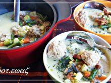Zupa wiosenna z klopsikami i kurkami