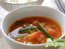 Zupa z algami i kaszą jaglaną