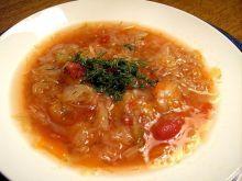 Zupa z białej kapusty - podobno....