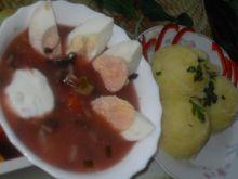 Zupa z boćwiną i kapustą pekińską