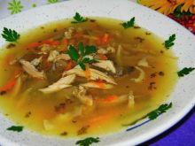 Zupa z boczniaków z kurczakiem