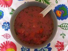 Zupa z botwiny na żeberkach wędzonych