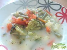 Zupa z brokułami i szparagówką