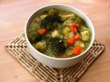 Zupa z brokułem, ryżem i brukselka