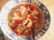 Zupa z brukselką, brokułem i selerem naciowym