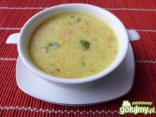 Zupa z brukselką i kaszą jaglaną