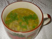 Zupa z cebuli i pora na kurczaku z kmink