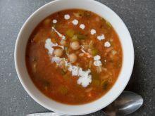 Zupa z ciecierzycą (z ryżem)