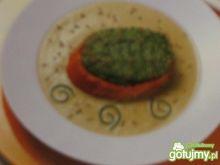 Zupa z cukini z zielonym sufletem
