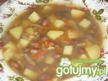 Zupa z czerwonej fasoli na żeberkach