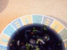 Zupa z czerwonej kap. z kładzionymi klus
