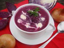 Zupa z czerwonej kapusty i buraczków